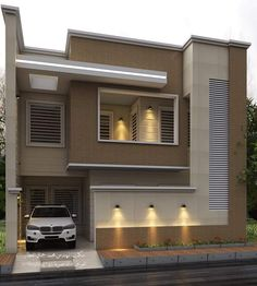 Top 30 Modern House Design Ideas For 2020 - Engineering Discoveries Modern Bungalow Exterior, Modern Exterior House Designs, Unique House Design, Modern House Plans, Cool House Designs, 3 Storey House Design, Bungalow House Design, House Outside Design, House Front Design