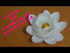 Flor estrella un cetro de mesa de material reciclado - YouTube