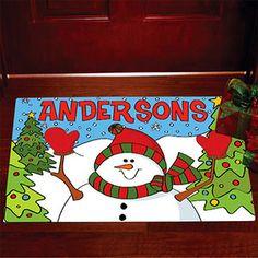 "Personalized Snowman Doormat, 17"" x 27"". Walmart.com"