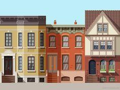 Houses #1 (2x) by Csaba Gyulai