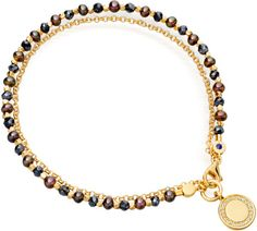 Astley Clarke Peacock Pearl and Blue Spinel Cosmos Friendship Bracelet in Multicolor