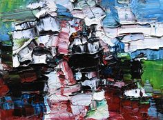 Palette Knife, One Color, Art Blog, Landscape Paintings, Mosaic, Sketches, Tube, Abstract, Craft