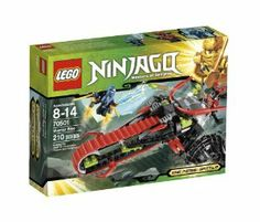 """LEGO Ninjago Warrior Bike 70501 by LEGO Ninjago. $19.88. Shoot the quick-fire missiles. Features quick-fire flick missile launcher; big wheels and cool red track tire. Measures over 5"""" (15cm) high, 7"""" (20cm) long and 4"""" (12cm) wide. Weapons include elemental lightning blade; 2 ninja swords, katana and a scimitar. Includes 2 minifigures with weapons: Jay and warrior. From the Manufacturer Lord Garmadon's warrior is in hot pursuit of Jay and the elementa..."""
