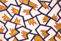 Textile pattern (1981) by Nathalie Du Pasquier for Memphis Milano.