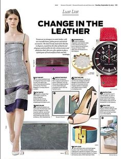 Our Turquoise Stingray Wide Jigsaw Cuff featured in the Houston Chronicle!