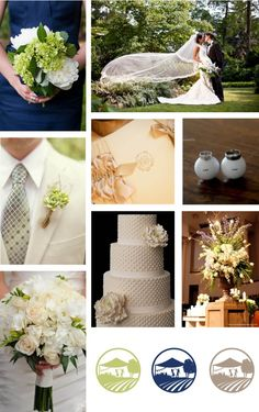 traditional wedding, southern wedding, navy blue, green, ivory and gold