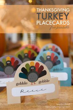Thanksgiving Turkey Placecard Printables
