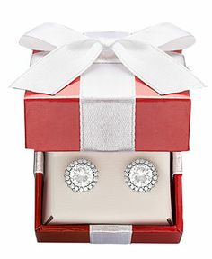 B. Brilliant Sterling Silver Earrings, Pave Cubic Zirconia Stud Earrings (2-3/4 ct. t.w.) - Under $100 - Jewelry & Watches - Macy's