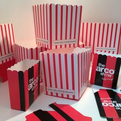 Branded Popcorn boxes www.scyphus.co.uk Popcorn Boxes, Paper Cups, Gift Wrapping, Printed, Gifts, Arch, Gift Wrapping Paper, Presents, Wrapping Gifts