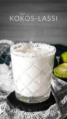 Kokos-Lassi - Ahalni Sweet Home Kokosnuss Lassi Summer Drink Recipes, Easy Drink Recipes, Summer Drinks, Smoothie Recipes, Smoothies, Dessert Recipes, Best Lemonade, Pineapple Lemonade, Strawberry Lemonade