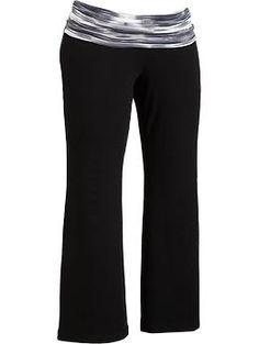 Women's Plus Roll-Over Yoga Pants | Old Navy