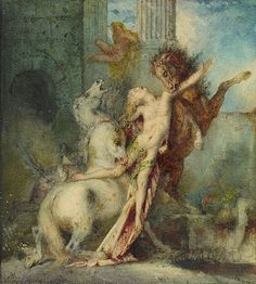 Diomedes Devoured by Horses 1866 Watercolor over graphite 8 7/16 x 7 3/4 in. The Getty Museum (98.GC.153)
