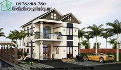 Biệt thự đẹp 2 tầng, thiết kế biệt thự 2 tầng NDBT2T9