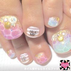 Nail Design image 961621 pastel Marin summer soft gel foot