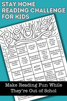 Kids' Book Bingo + Stay at Home Reading Resources Listen To Reading, Reading At Home, Kids Reading, Reading Logs, Close Reading, Guided Reading, Challenge For Teens, Writing Challenge, Book Challenge