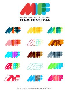 Melbourne International Film Festival (MIFF) by Josip Kelava, via Behance