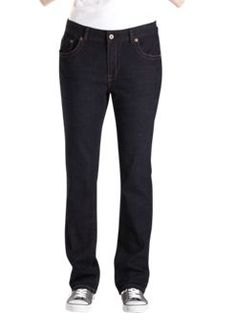 Women's Slim Straight Fit Leg Jean                       PRICE  $54.99   Item# FD125     - Slim straight fit  - Five pocket styling  - Contoured waistband  - Signature stitching
