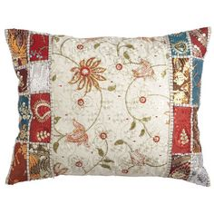 Eyelet Embroidery Pillow - certainly prettier than the flat and stale cushions that came with my couch.