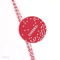 Andaz Press Circle Gift Tags, Modern Style, Cheers!, Red, 24-Pack -- A special product just for you. See it now! : Christmas Gifts
