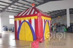 https://flic.kr/p/xvFP6K | Inflatable happy party market stand tent | This is a common party tent suitable for different parties, which could be installed inside as well as outdoor. The tent tops are made from PVC tarpaulin . Meets EN14960 and EN71, material fire-retardant. Wall hanging velcro is pre-attached to the top enabling an air tight connection between tops and walls. Also with balloons and light hanging.Custom design this tents for specific applications is available.