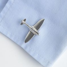 English Made Pewter Cufflinks Eurofighter Typhoon Aeroplane Presented in a Box