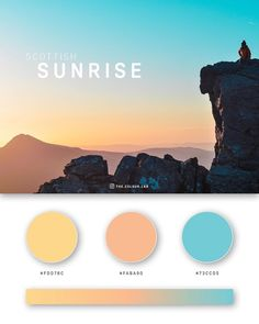 It can be hard sometimes to choose colors for a project, especially if you're starting from scratch, and it's a solo project. But no need to worry, have a look at some of these gorgeous color palettes derived from some beautiful pictures of nature, pets, architecture, landscapes, stunning moments.  #color #colorpalette #palette #colorinspiration #paletteinspiration #nature #naturalpalette #sunrise colorpalette #art #design Flat Color Palette, Colour Pallette, Color Palate, Web Design, Game Design, Design Lab, Sunrise Photography, Landscape Photography, Sunrise Colors