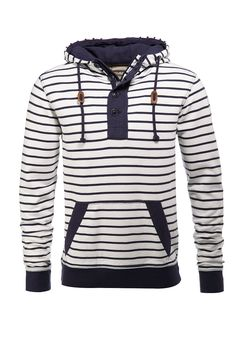 striped hoodie.