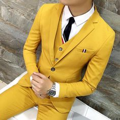 Suit-Mens-Clothing-Mens Suits Suits Stylish Fashion Suits-Suit-Mens-W. Mens 3 Piece Suits, Mens Suits, Wedding Dress Suit, Wedding Suits, Mens Fashion Blog, Mens Fashion Suits, Fashion Trends, Mode Masculine, Tailor Made Suits