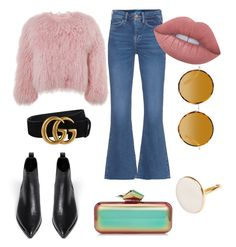 Untitled #7 by indahif on Polyvore featuring polyvore Charlotte Simone M.i.h Jeans Acne Studios Jimmy Choo Matthew Williamson Gucci Lime Crime fashion style clothing
