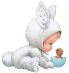 Little Bunny Baby! Baby Illustration, Illustrations, Cute Images, Cute Pictures, Bing Images, Animal Drawings, Cute Drawings, Hoppy Easter, Easter Bunny