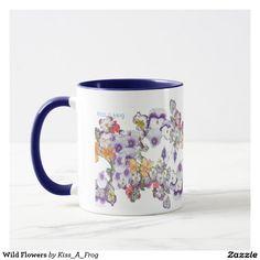Flowers Coffee & Travel Mugs Coffee Travel, Travel Mug, Cool Mugs, Wild Flowers, Tea Cups, Coffee Mugs, Tableware, Design, Dinnerware