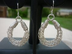 Viking Knit hoops made with Argentium Sterling and by veralynnbush, $99.00