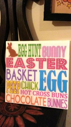 Subway Easter Tile on high gloss ceramic tile - Easter Decorations for the HOME on Etsy, $9.00