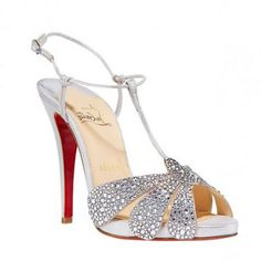 Christian Louboutin Crystal T-Strap Sandal Mens New Years Eve Outfit Christian Louboutin Sandals, Christian Louboutin Outlet, All Fashion, Runway Fashion, Fashion Shoes, Bride Shoes, Wedding Shoes, Wedding Stuff, Early Fall Outfits