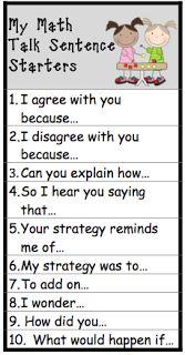"""Kid's Math Talk: Kid's Math Talk Tools -- I would add """"Convince me that . . ."""""""