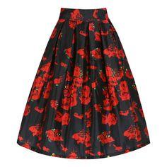 Marnie Rose Print Full Circle Skirt | Vintage Style Skirts - Lindy Bop