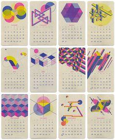 risograph print calendar by paper pusher (aka jp king)