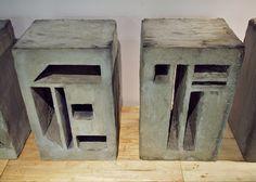 hand made type installation concrete