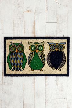 Night Owl Welcome Mat $34  #UrbanOutfitters