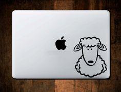 Sheep Decal Vinyl for Car Truck Macbook Laptop Window Sticker by NebraskaVinyl on Etsy