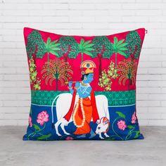 Kannah's Poetry Blended Velvet Cushion Cover