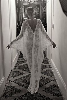 Sexy-Classy Bridal Lingerie to Wear on Your Wedding Night - French Lace Bridal Robe by Sarafina Dreams on Etsy