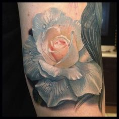 white rose by Phil Garcia, Port Hueneme, USA | rose tattoos