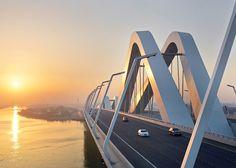 Zaha Hadid's best buildings photographed by Hufton + Crow: Sheikh Zayed Bridge, Abu Dhabi, UAE, 2010