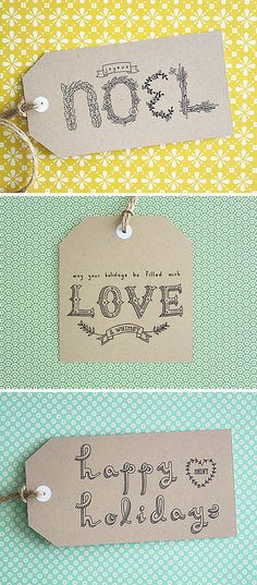 These free typographic gift tags printables are so easy to make. Just print, then cut them out!