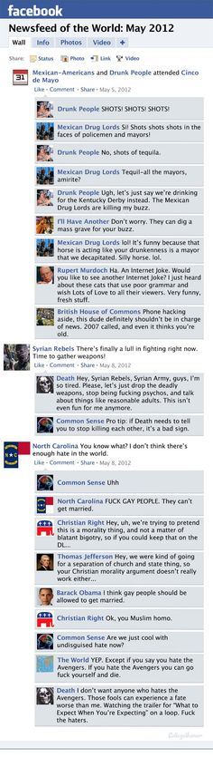 Hilarious Facebook Newsfeed History of the World for the month of May 2012 #WebHumor