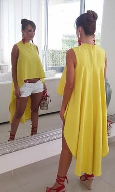Pin on Dresses Short Outfits, Chic Outfits, Summer Outfits, Casual Chic, Casual Wear, Look Fashion, Womens Fashion, Fashion Trends, Mein Style
