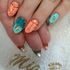 Dream Catcher nails. :'3