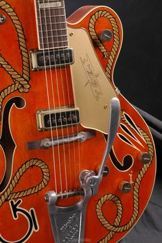 Gretsch G6120DSW-R Custom Chet Atkins guitar!