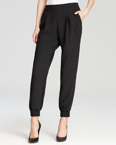 Calvin Klein Slouchy Pants in Tin | love 'em but now they r way big, ugh. i hope they can be tailored cuz they r so cute.